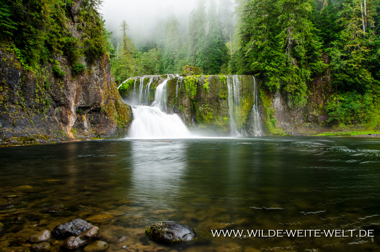 Upper Lewis River Falls - Lewis River Recreation Area, Gifford-Pinchot National Forest, Washington
