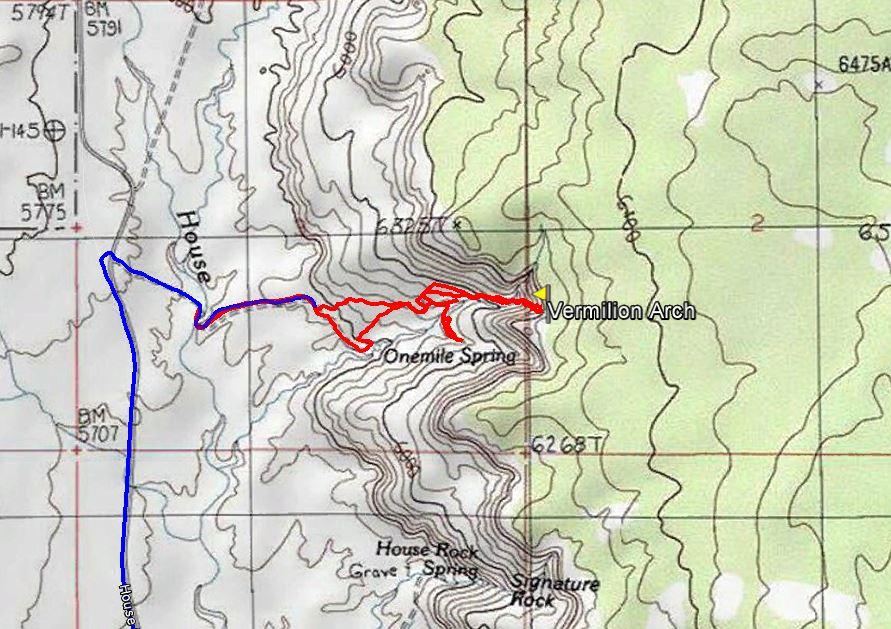 Aufstieg-zum-Vermilion-Arch-Vermilion-Cliffs-National-Monument-Arizona-300x200 Vermilion Arch
