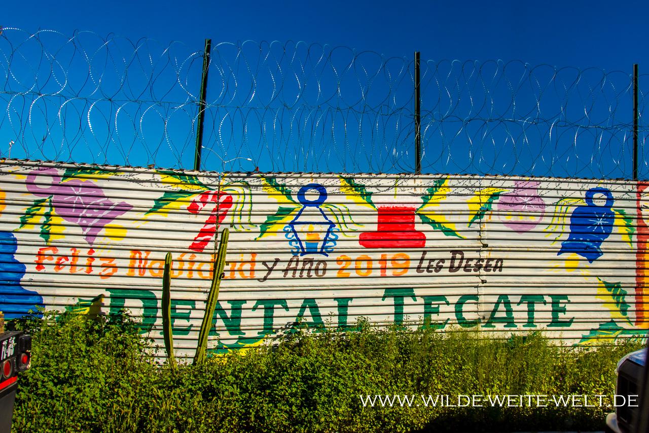 Grenzübertritt-Tecate-Baja-California-Nord-5 Grenze Mexico (Baja) in die USA bei Tecate [Baja California Norte]