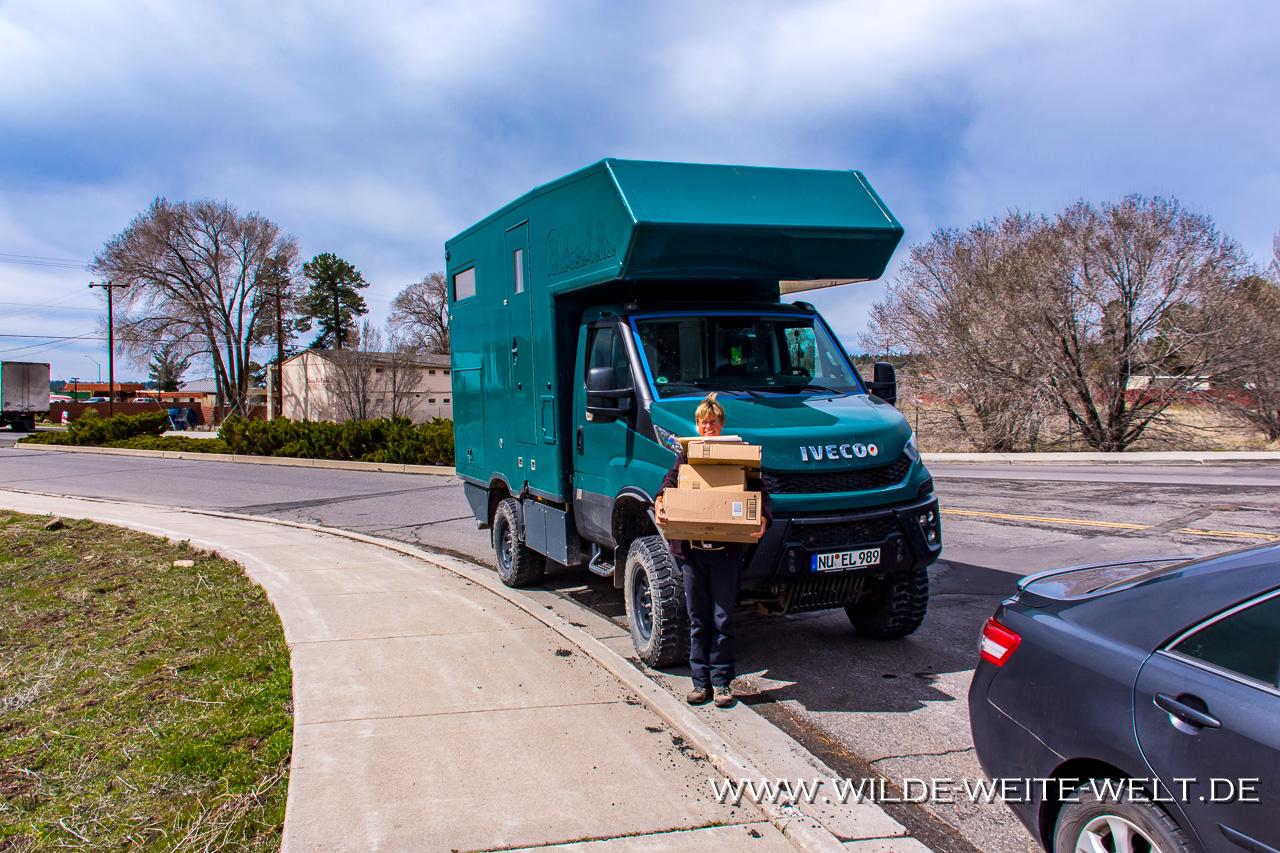 """Received-Packages-Flagstaff-Arizona-2 Pakete und Briefe per """"general delivery"""" in den USA bequem erhalten"""