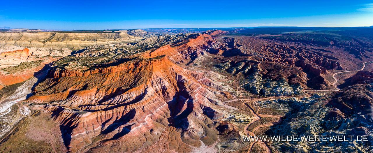 Paria-Badlands-Old-Paria-Grand-Staircase-Escalante-National-Monument-Utah-41 Aerial View: Badlands am Old Paria Movie Set / Old Pareah / Paria River [Grand Staircase Escalante National Monument]