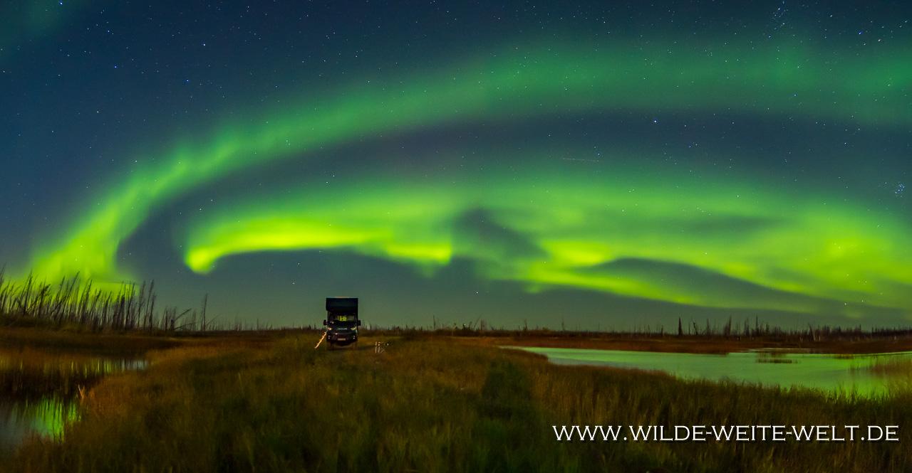 9-Aurora-Borealis-Caen-Lake-Yellowknife-Highway-Northwest-Territories-57 Aurora Borealis / Nordlichter / Northern Lights Teil # 3 - Im Licht des Vollmonds [Yellowknife Highway]