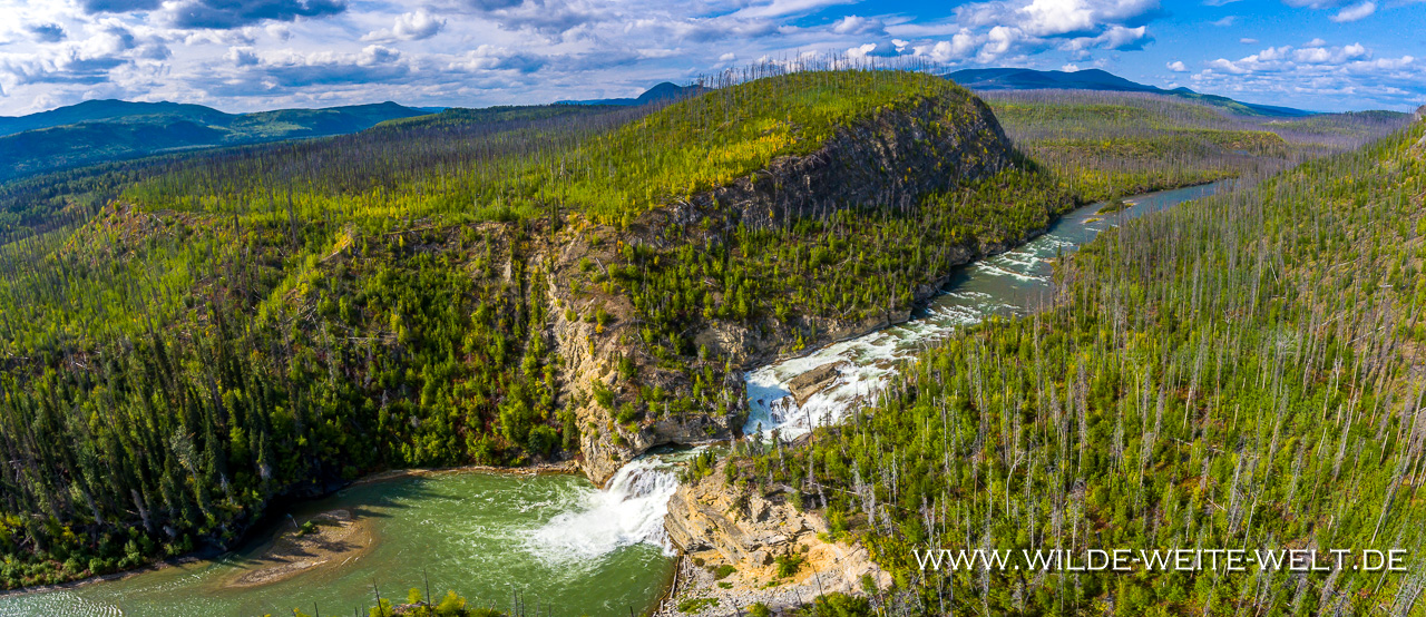 Smith-River-Falls-Alaska-Highway-British-Columbia-9 Wasserfälle der Northwest Territories: Smith River Falls, Sambaa Deh & Coral Falls, Lady Evelyn Falls, Louise Falls, Alexandra Falls, Baba Canyon